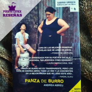 """Reseña de la novela """"Panza de Burro"""" de Andrea Abreu"""